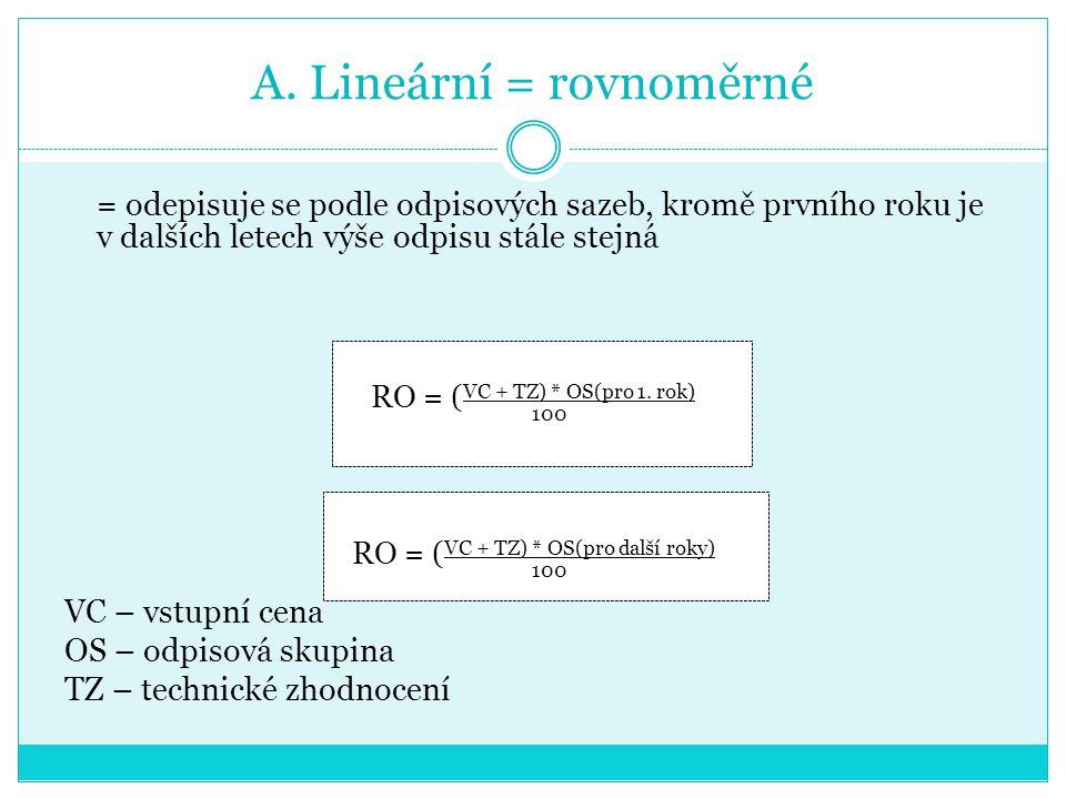 A. Lineární = rovnoměrné