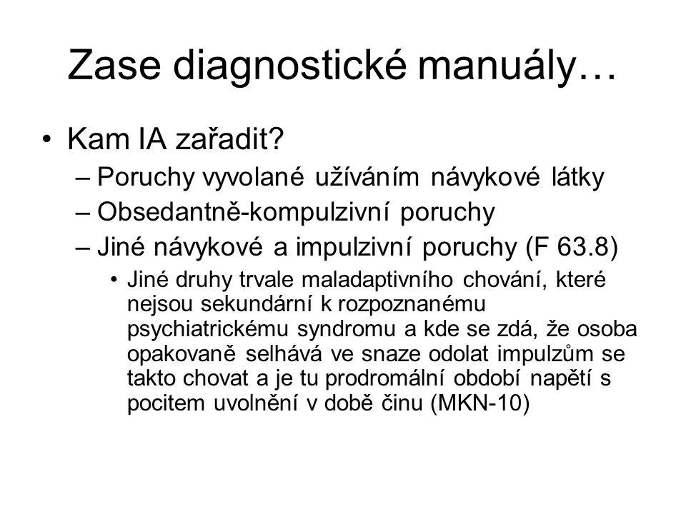 Zase diagnostické manuály…