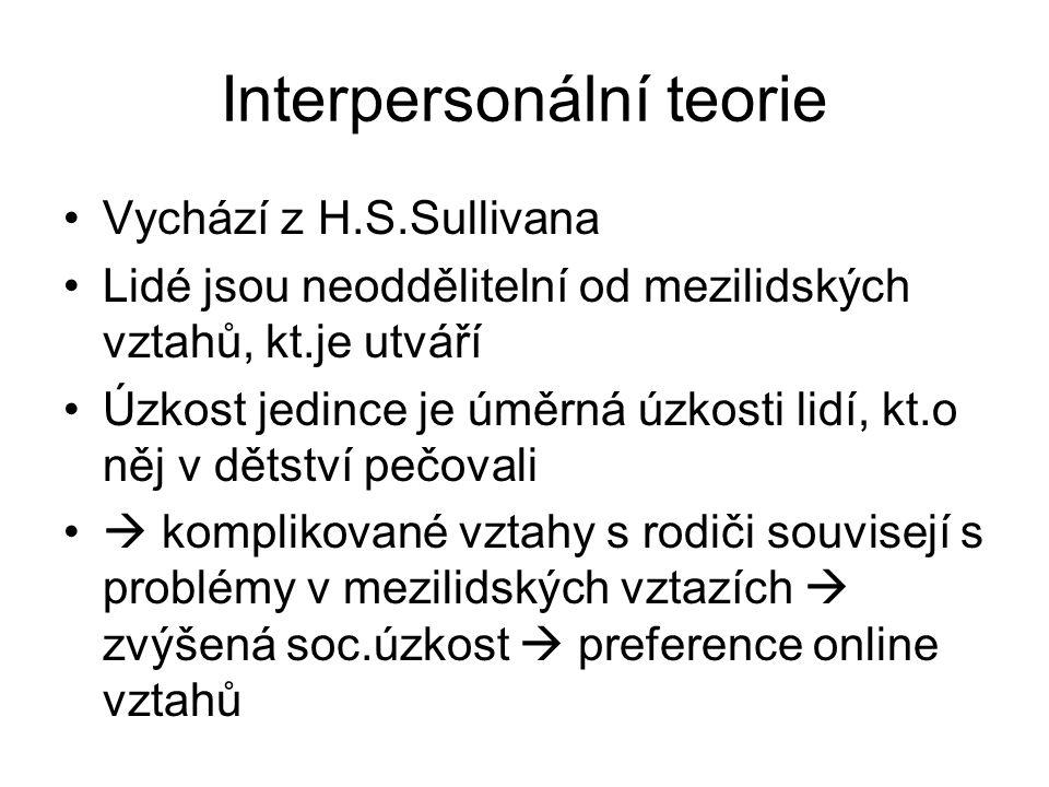 Interpersonální teorie