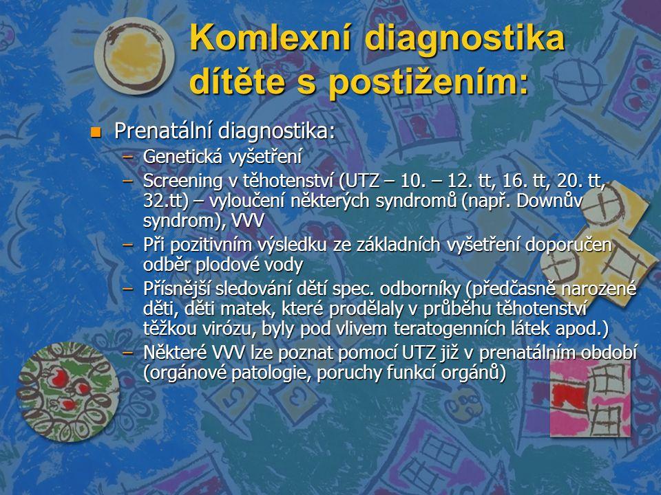 Komlexní diagnostika dítěte s postižením: