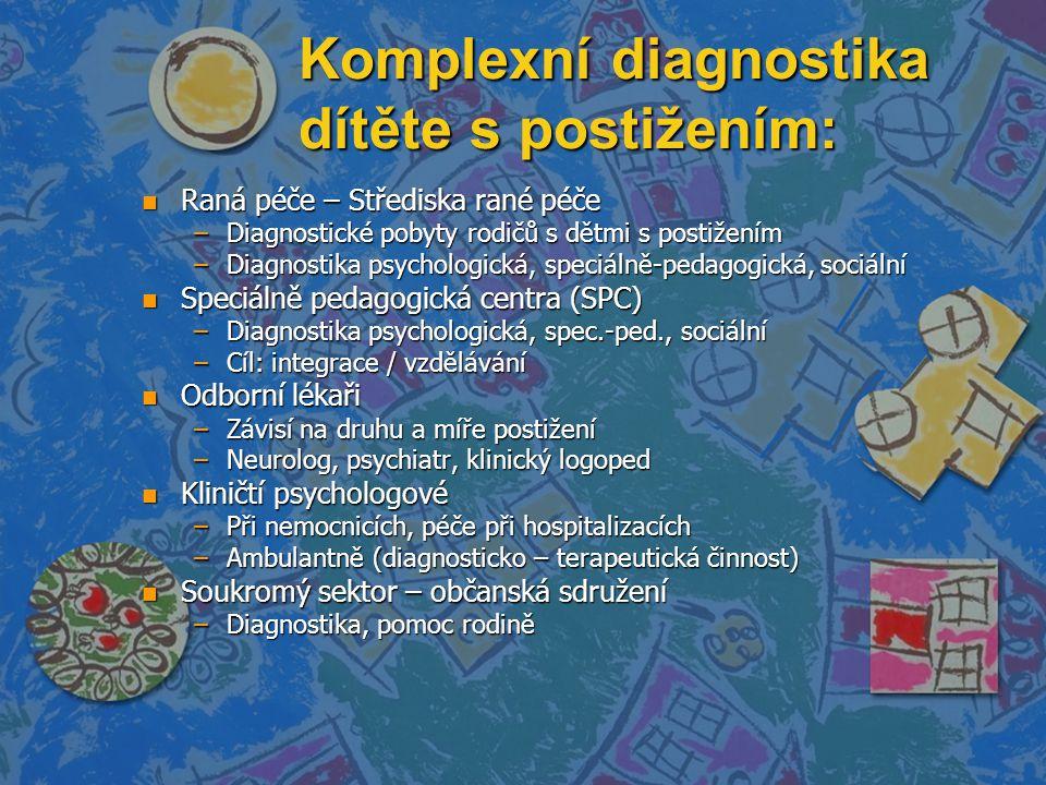 Komplexní diagnostika dítěte s postižením: