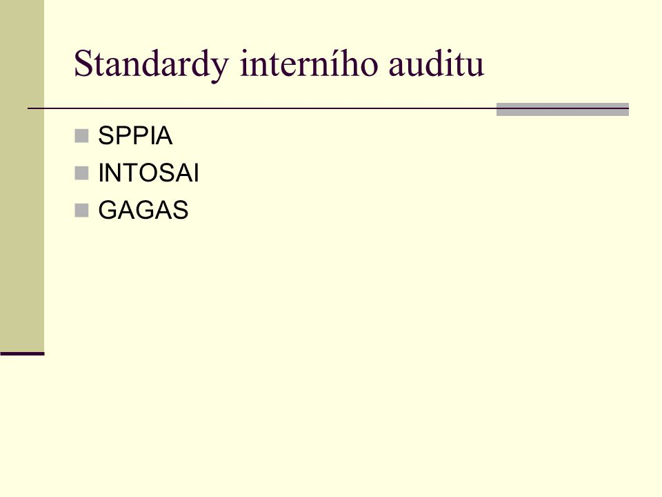 Standardy interního auditu