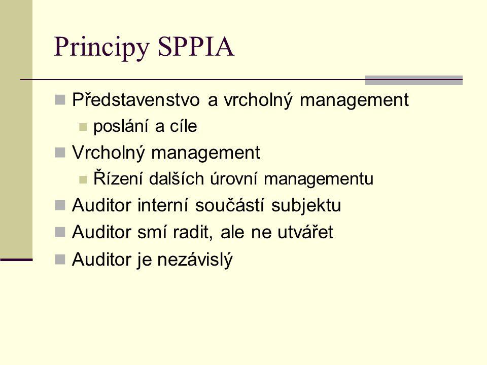 Principy SPPIA Představenstvo a vrcholný management