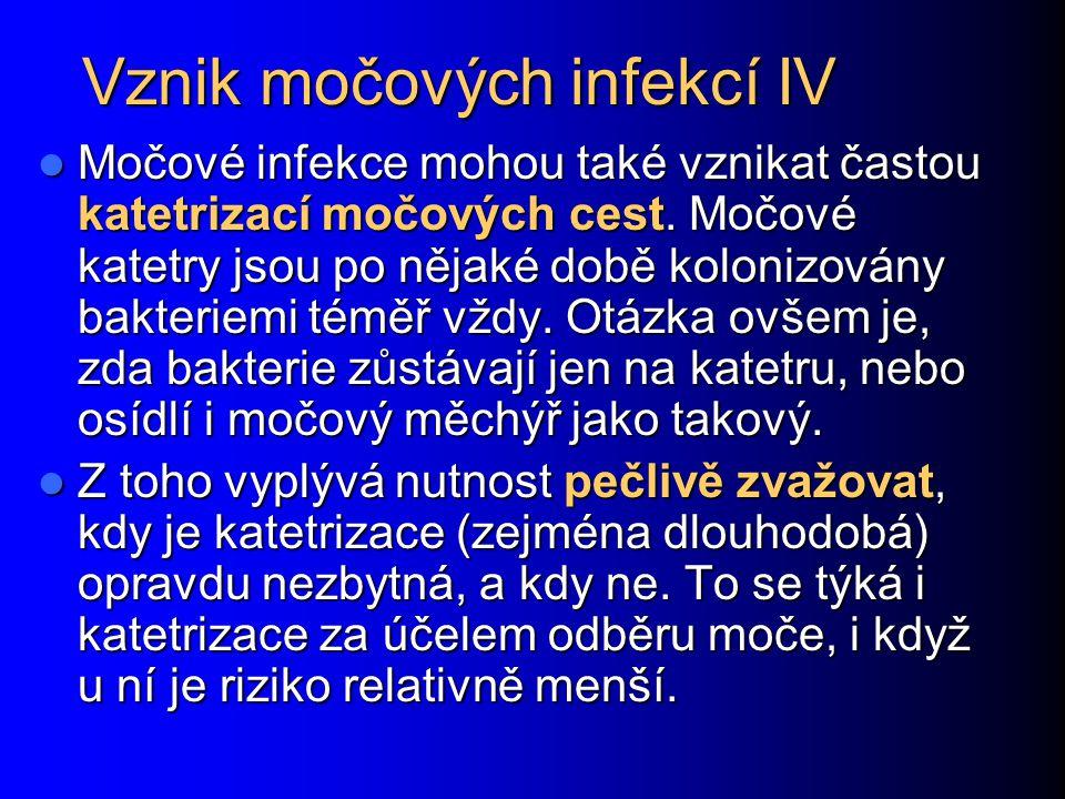 Vznik močových infekcí IV