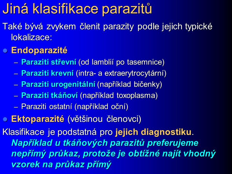 Jiná klasifikace parazitů