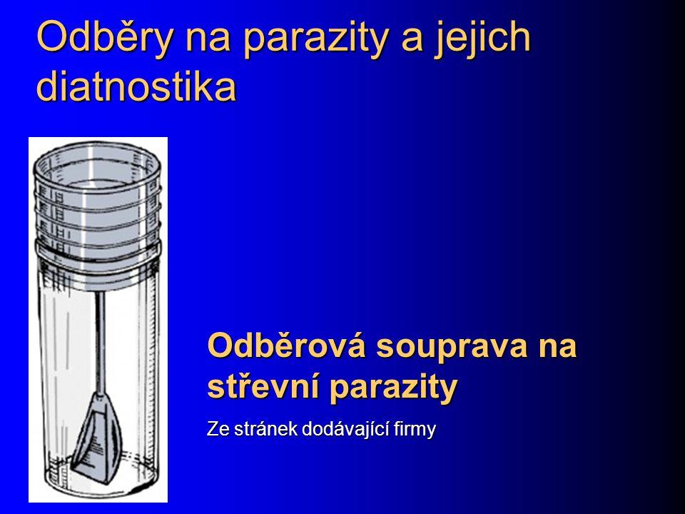 Odběry na parazity a jejich diatnostika