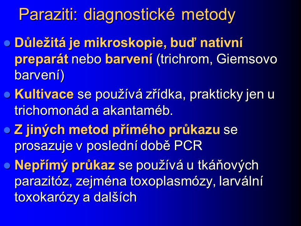 Paraziti: diagnostické metody
