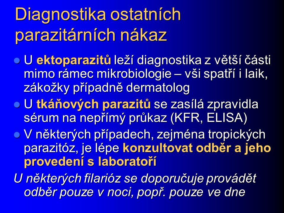 Diagnostika ostatních parazitárních nákaz