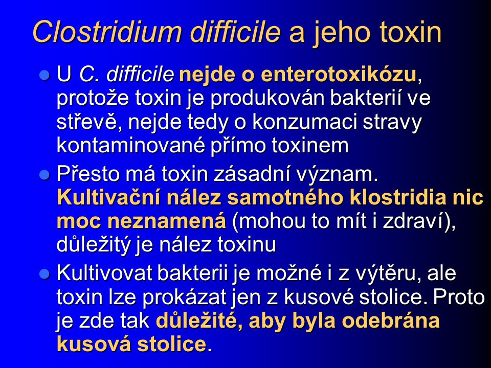 Clostridium difficile a jeho toxin