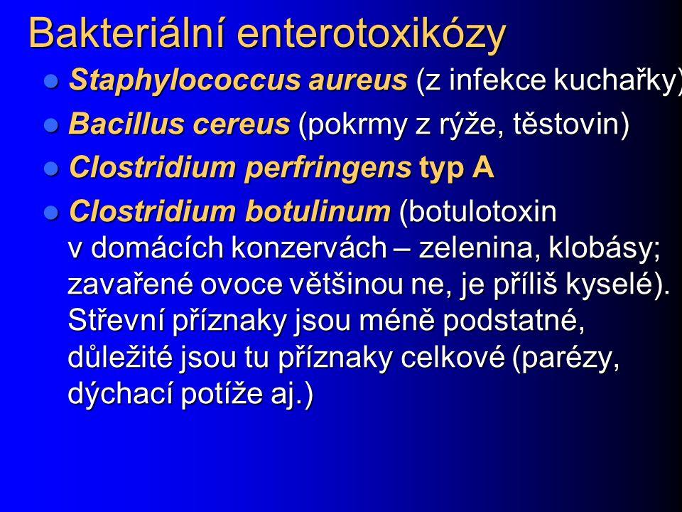 Bakteriální enterotoxikózy
