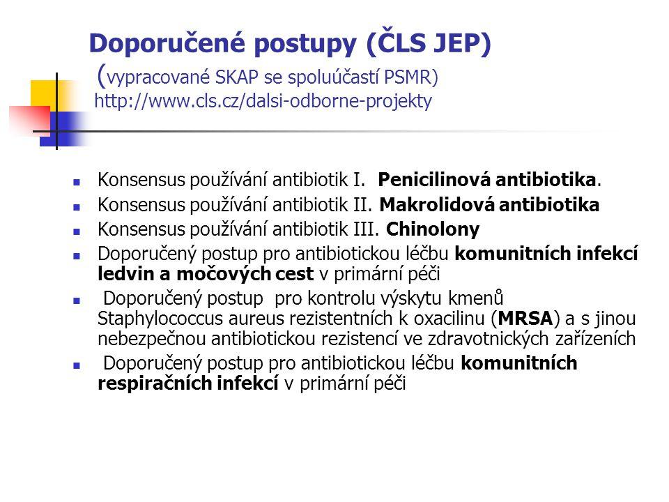 Doporučené postupy (ČLS JEP) (vypracované SKAP se spoluúčastí PSMR) http://www.cls.cz/dalsi-odborne-projekty