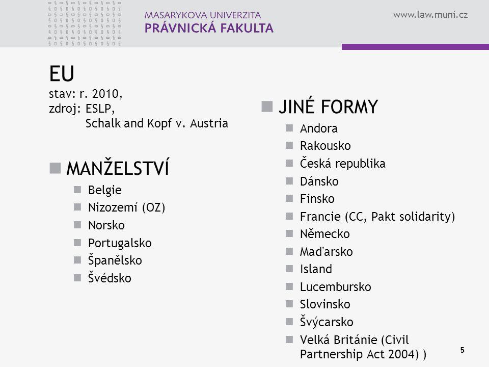 EU stav: r. 2010, zdroj: ESLP, Schalk and Kopf v. Austria