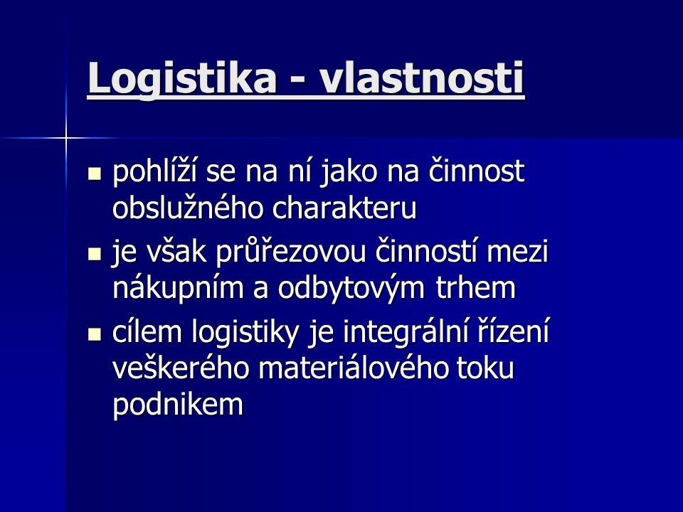 Logistika - vlastnosti