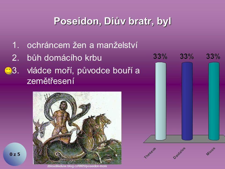 Poseidon, Diův bratr, byl
