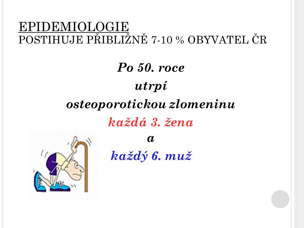 EPIDEMIOLOGIE POSTIHUJE PŘIBLIŽNĚ 7-10 % OBYVATEL ČR
