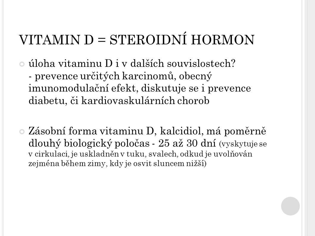 VITAMIN D = STEROIDNÍ HORMON