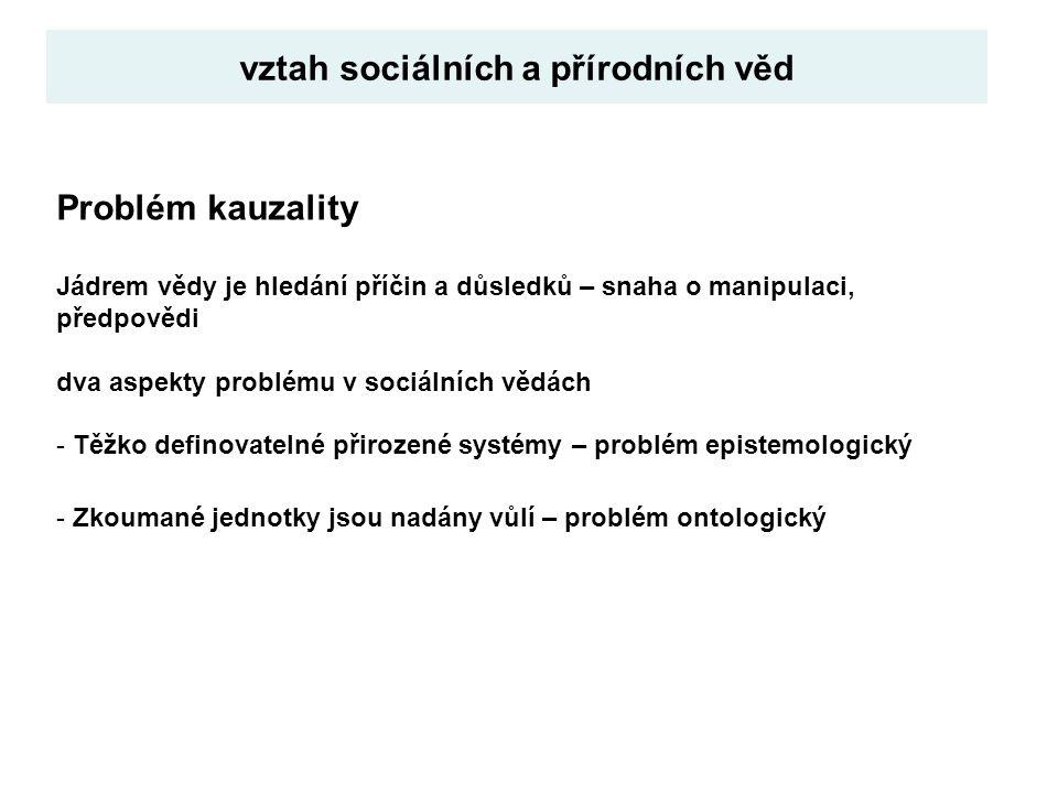 vztah sociálních a přírodních věd