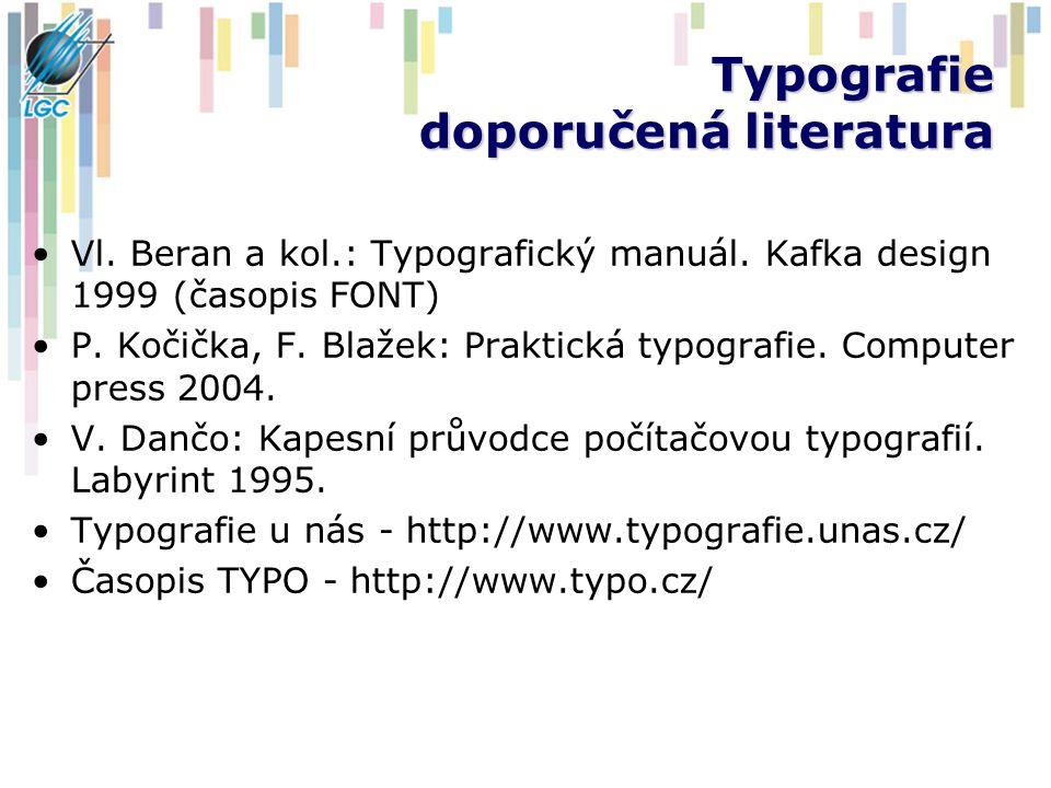 Typografie doporučená literatura