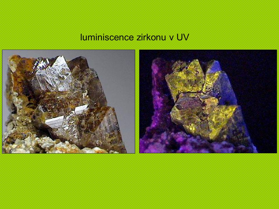 luminiscence zirkonu v UV