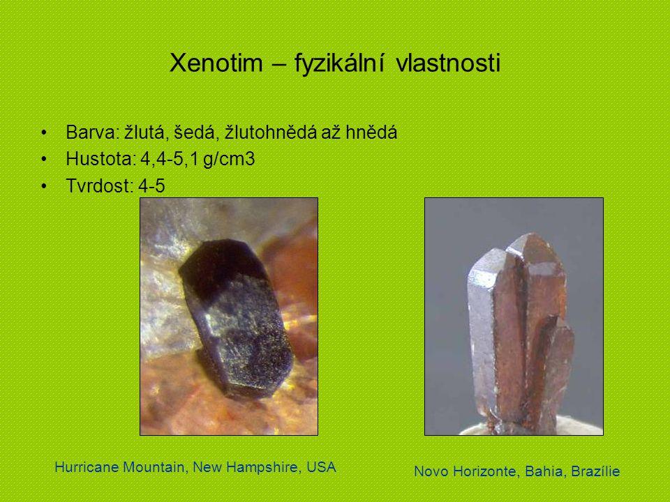 Xenotim – fyzikální vlastnosti