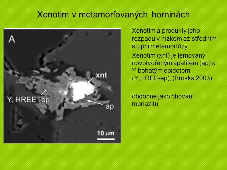 Xenotim v metamorfovaných horninách