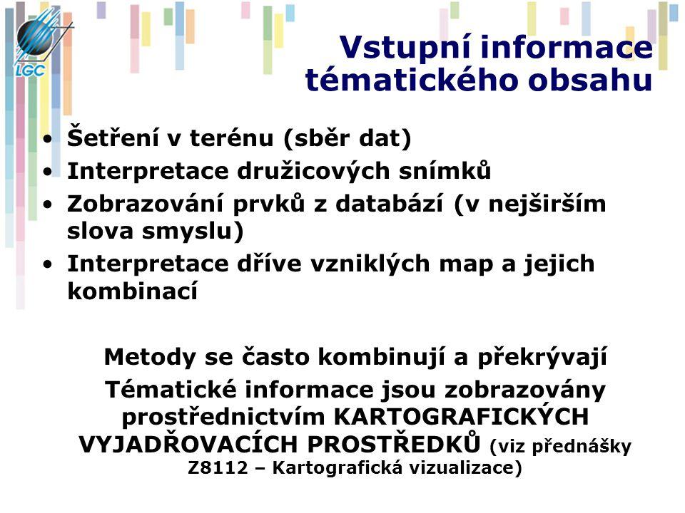 Vstupní informace tématického obsahu