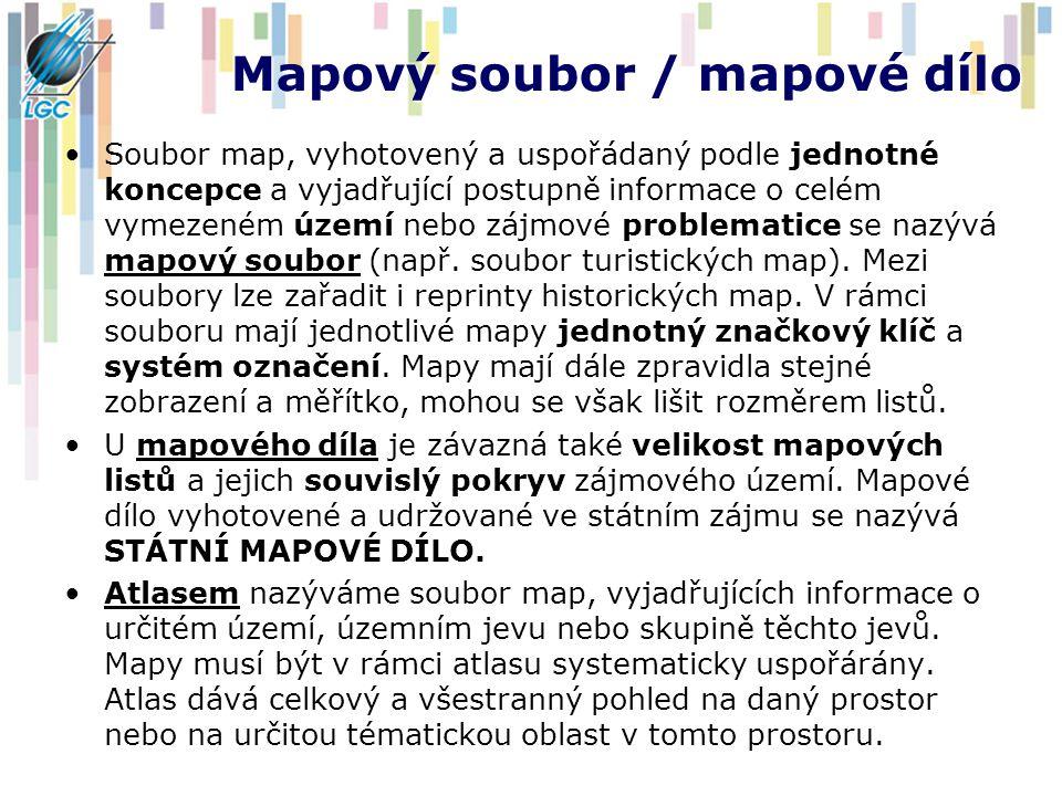 Mapový soubor / mapové dílo