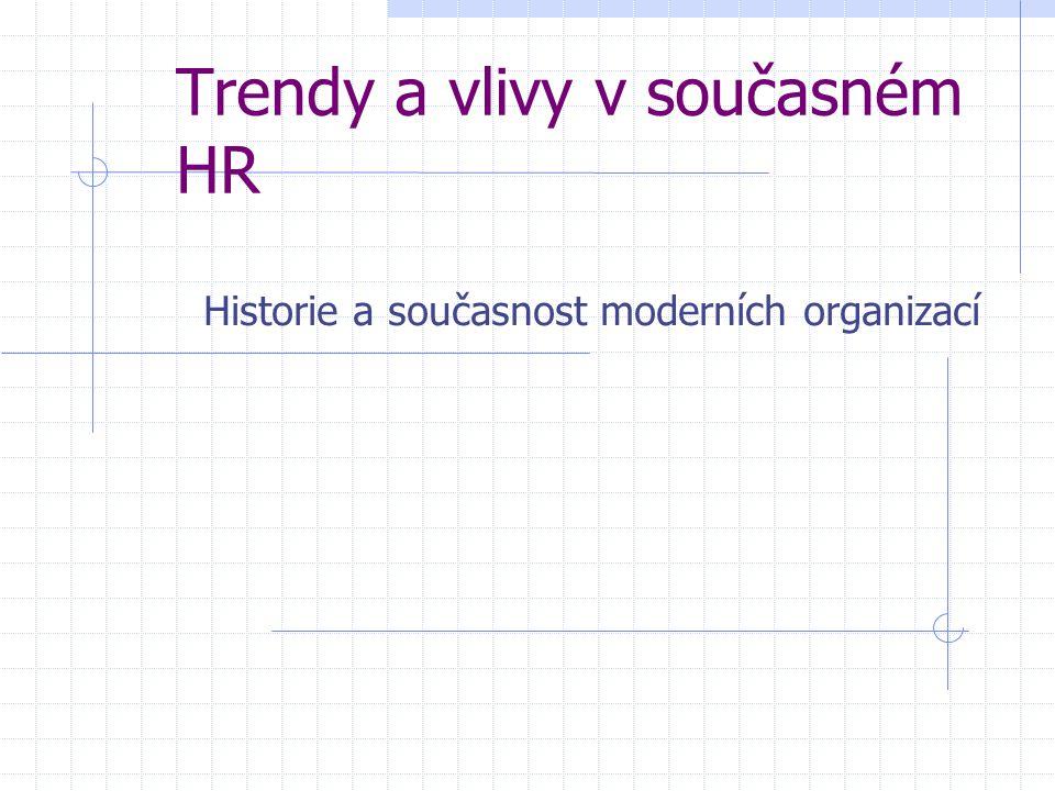 Trendy a vlivy v současném HR