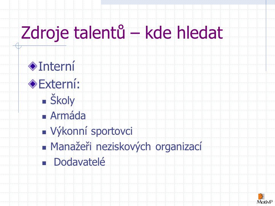 Zdroje talentů – kde hledat