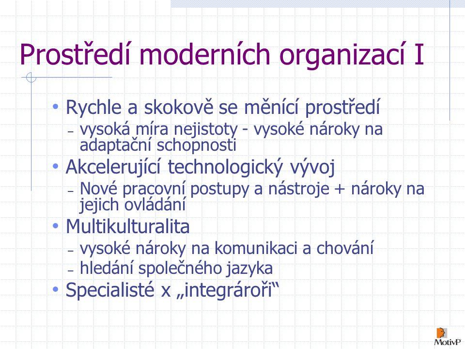 Prostředí moderních organizací I