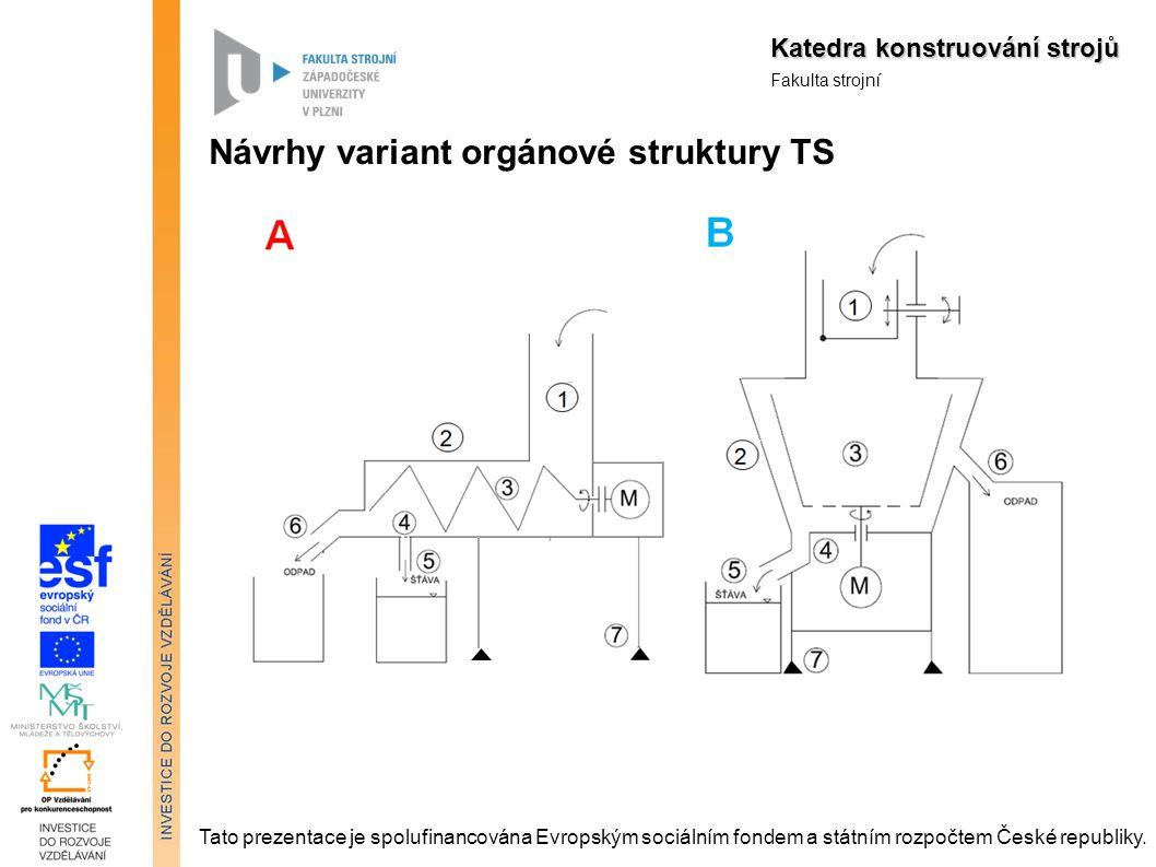 Návrhy variant orgánové struktury TS)