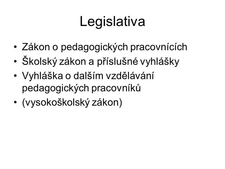 Legislativa Zákon o pedagogických pracovnících