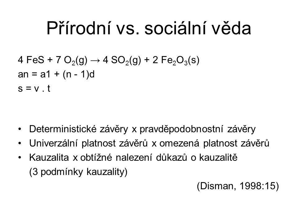 Přírodní vs. sociální věda