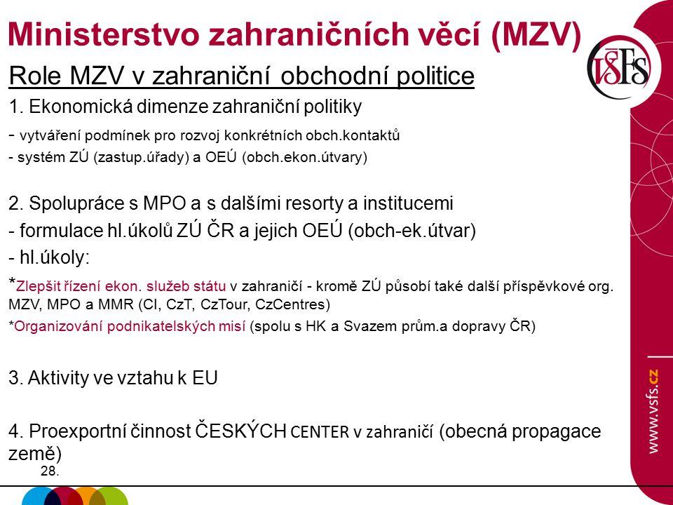 Ministerstvo zahraničních věcí (MZV)