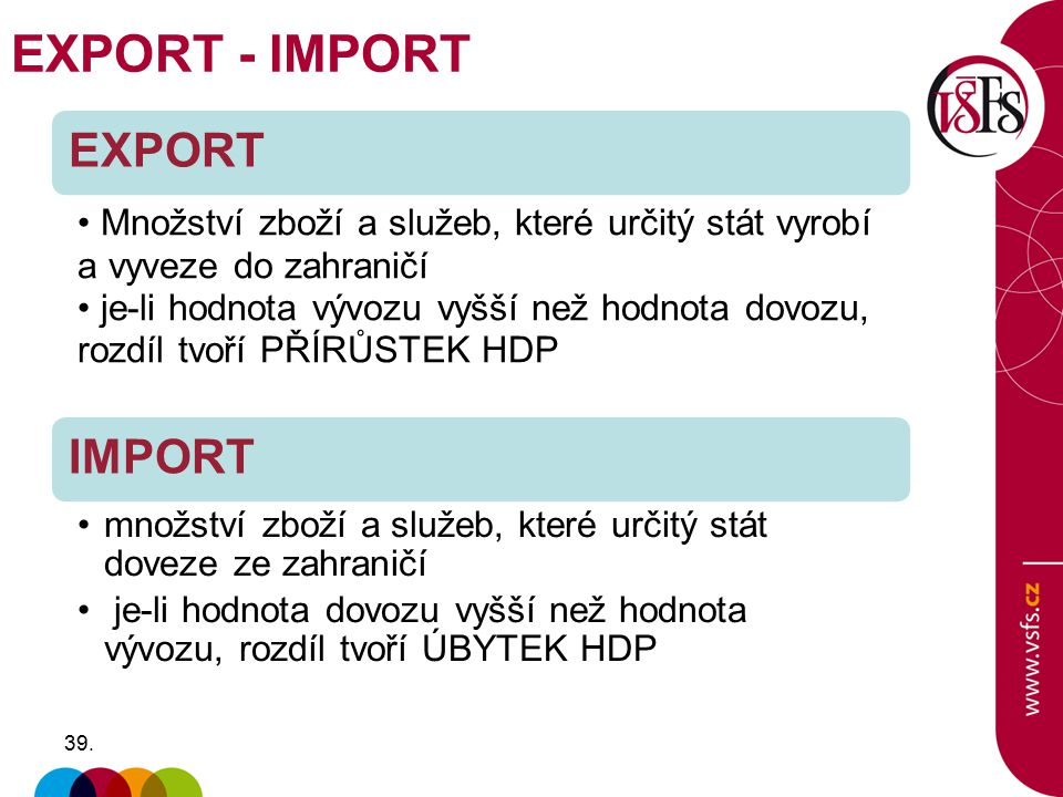 EXPORT - IMPORT EXPORT IMPORT