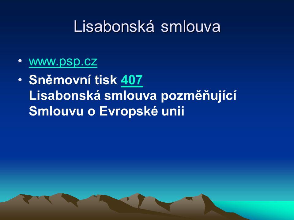 Lisabonská smlouva www.psp.cz