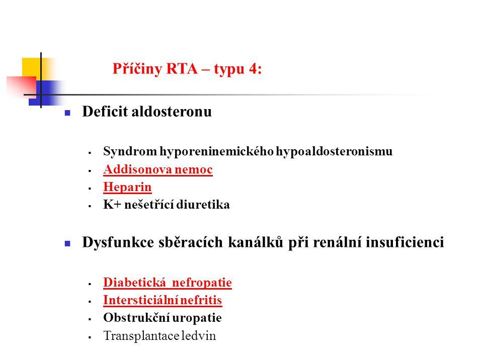 Dysfunkce sběracích kanálků při renální insuficienci
