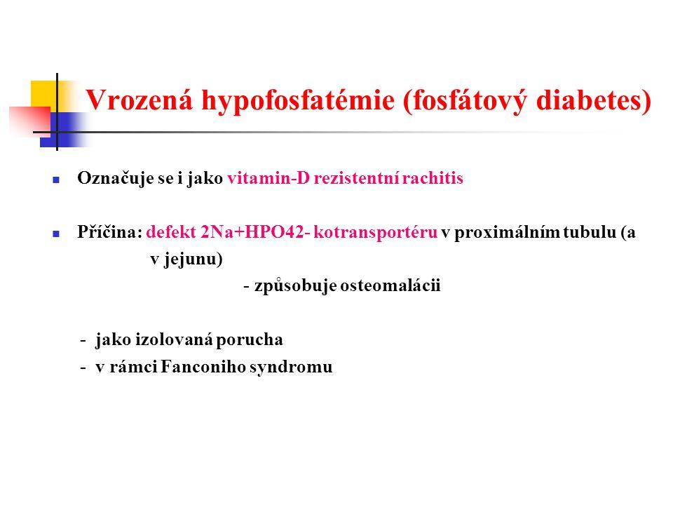 Vrozená hypofosfatémie (fosfátový diabetes)