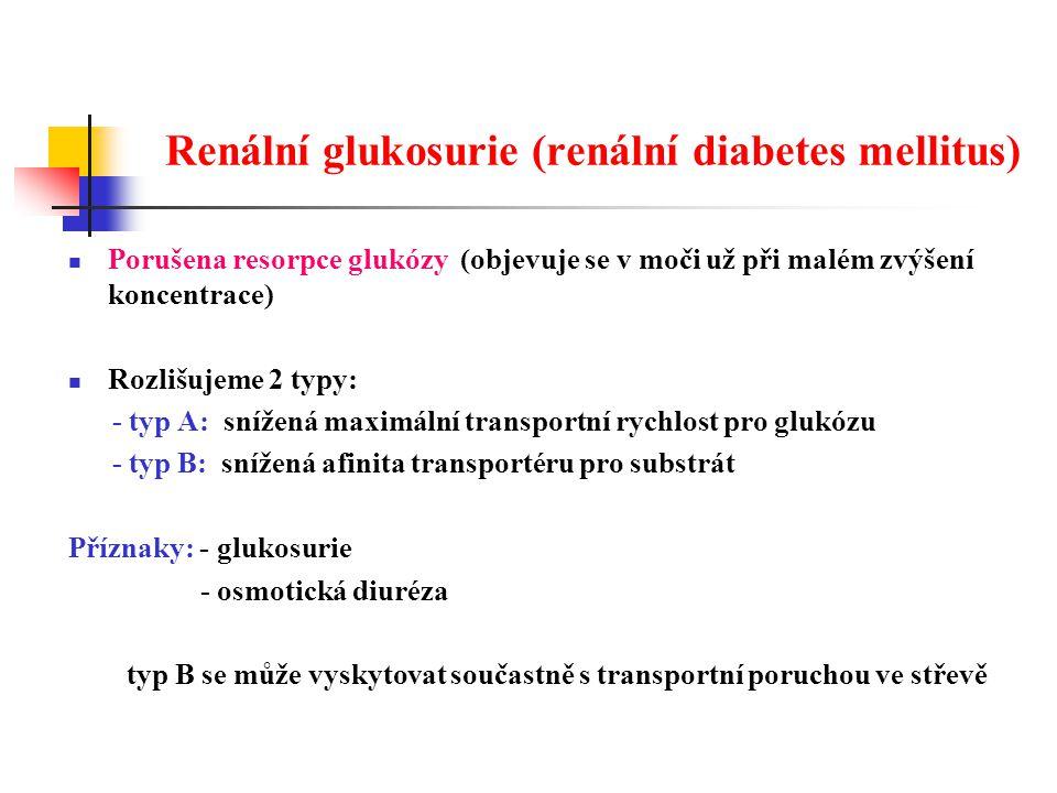 Renální glukosurie (renální diabetes mellitus)