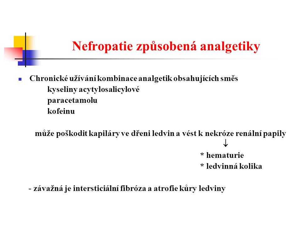 Nefropatie způsobená analgetiky