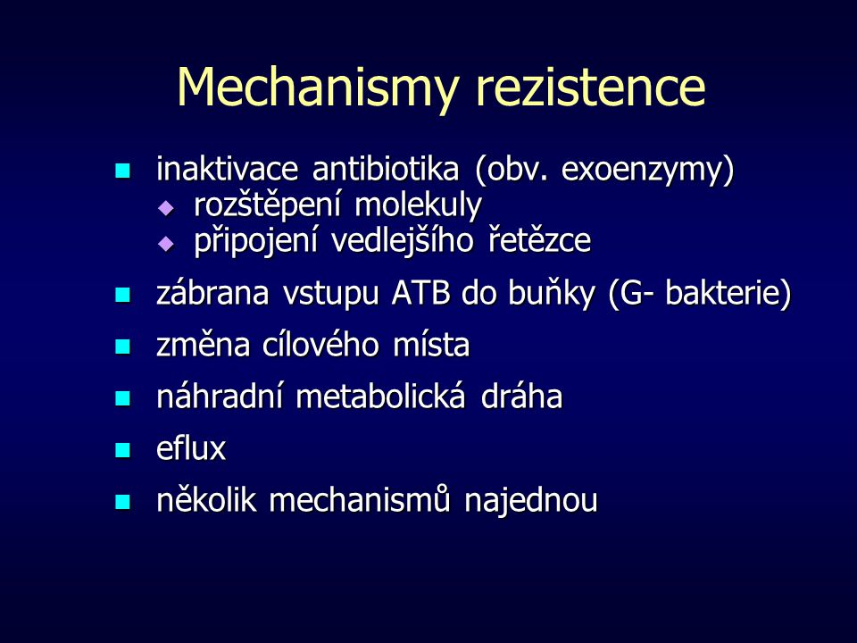 Mechanismy rezistence