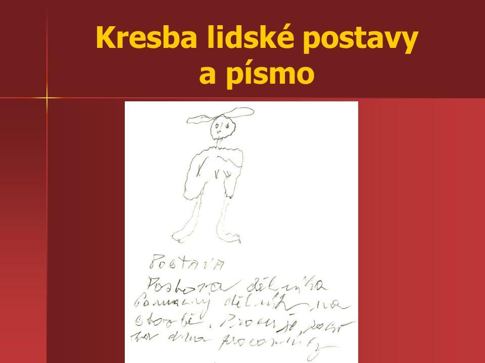 Kresba lidské postavy a písmo