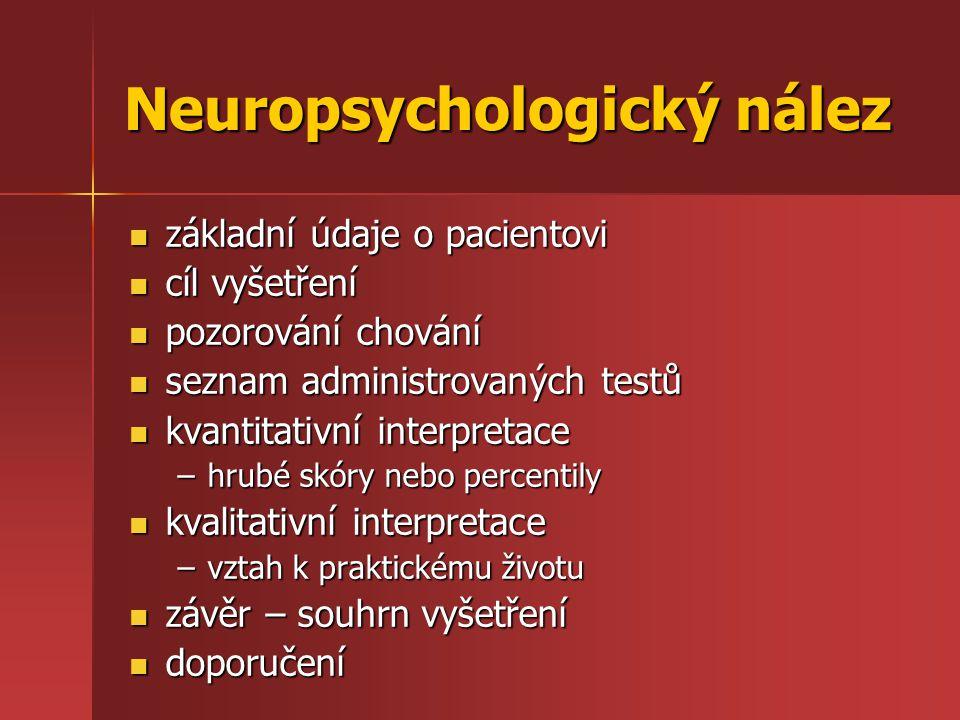 Neuropsychologický nález