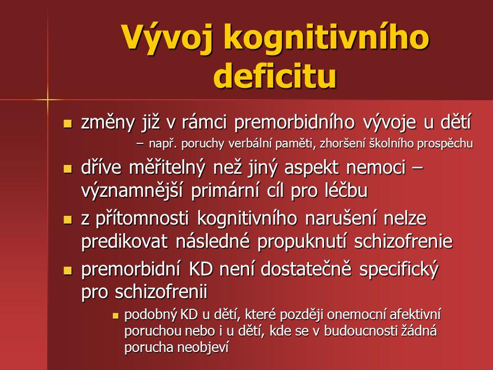 Vývoj kognitivního deficitu