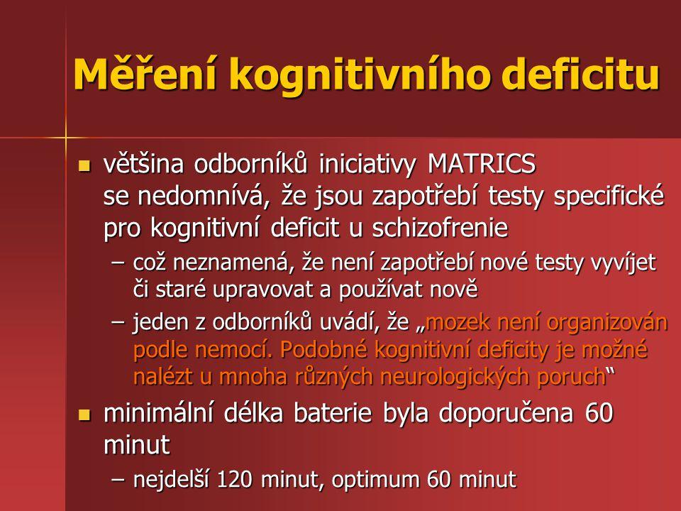 Měření kognitivního deficitu