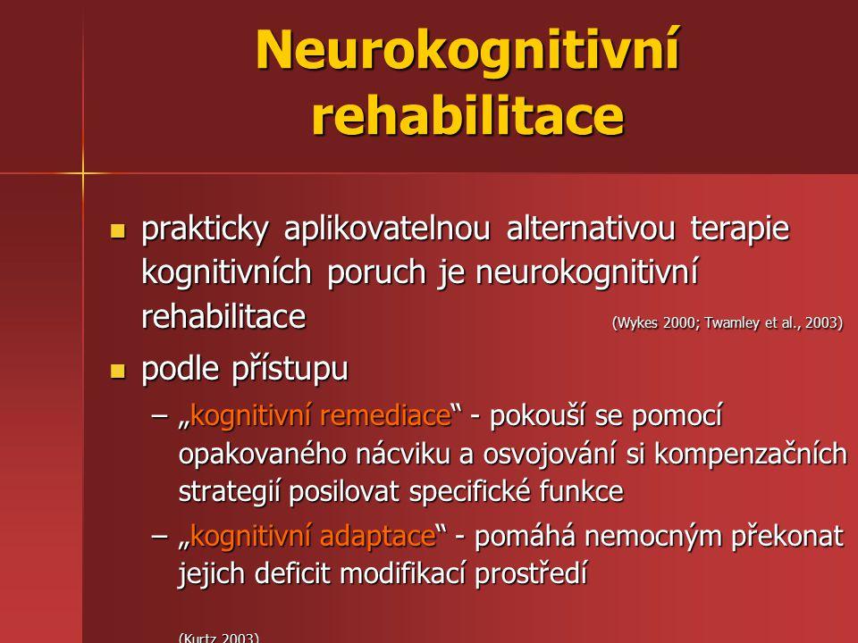 Neurokognitivní rehabilitace