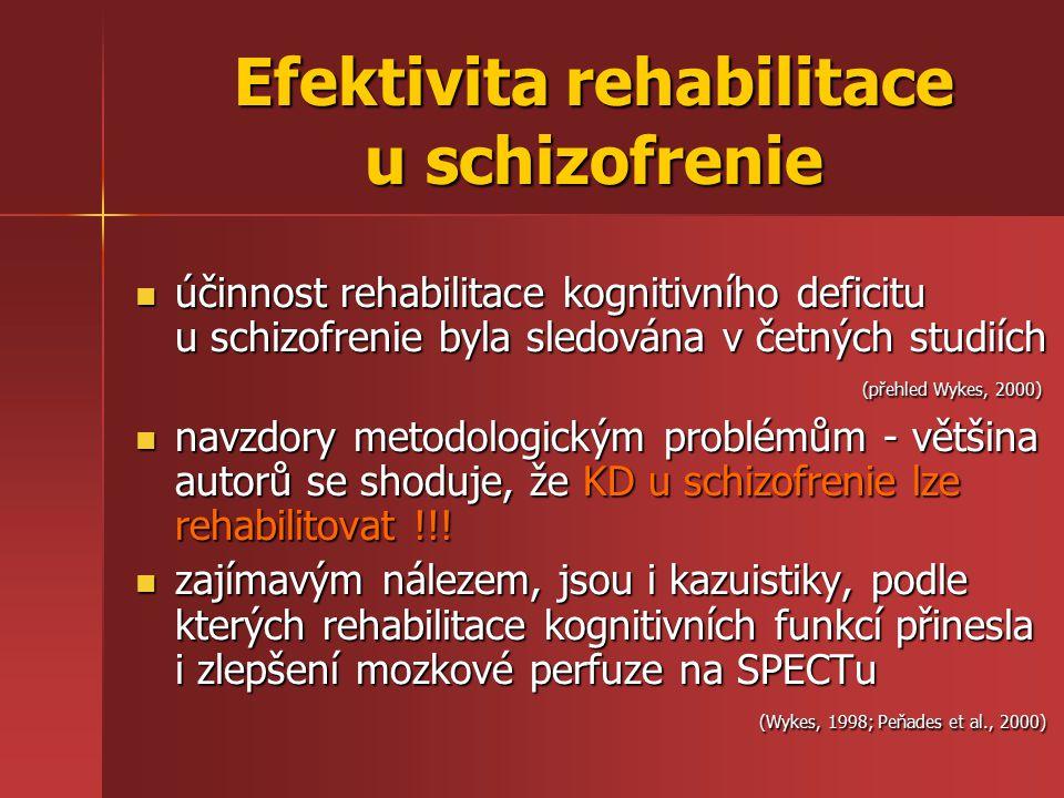 Efektivita rehabilitace u schizofrenie