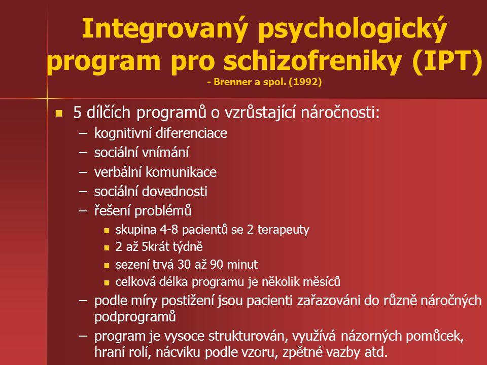 Integrovaný psychologický program pro schizofreniky (IPT) - Brenner a spol. (1992)