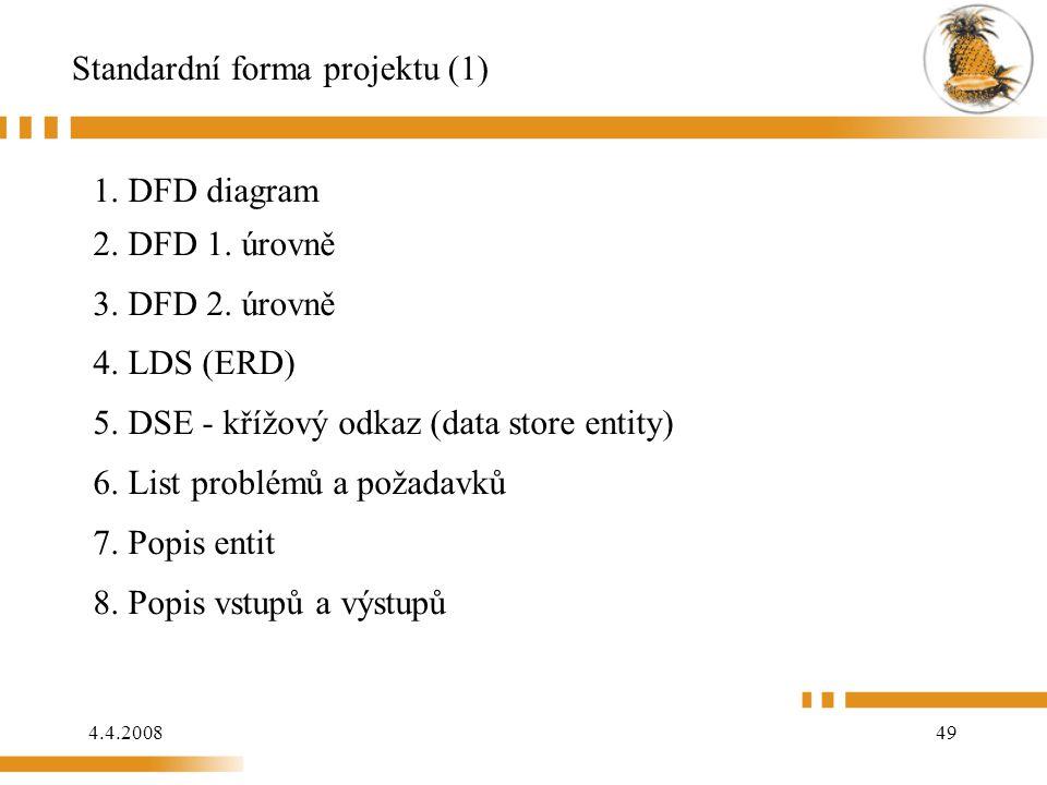 Standardní forma projektu (1)