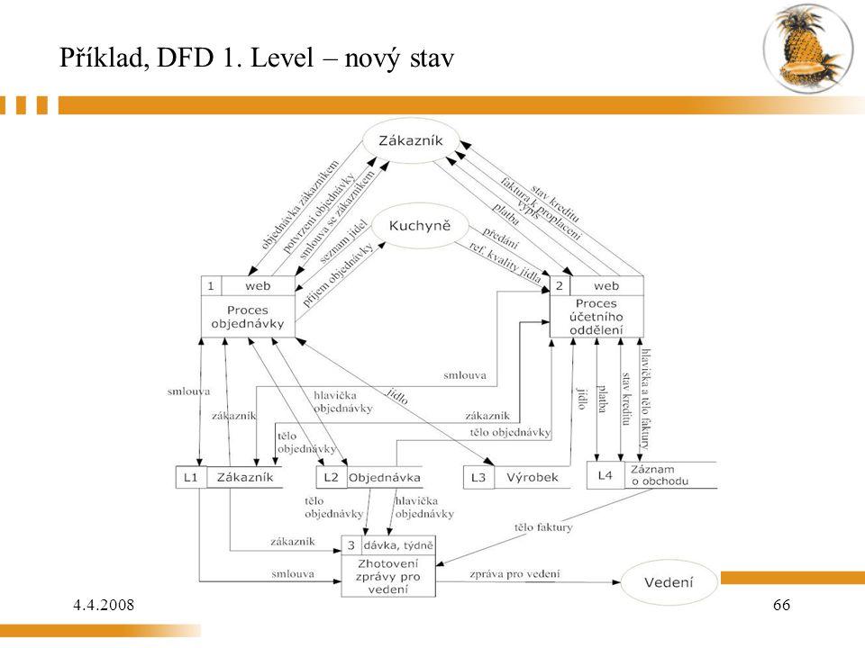 Příklad, DFD 1. Level – nový stav